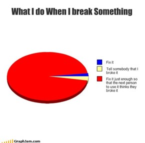 What I do When I break Something
