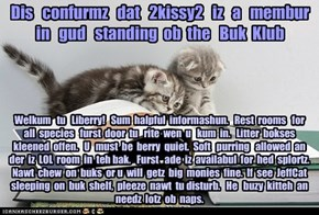 Offishul JeffCatsBookClub Memburship Kard for 2kissy2