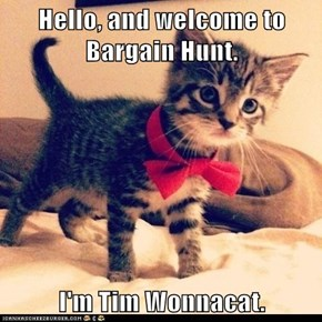 Hello, and welcome to Bargain Hunt.  I'm Tim Wonnacat.