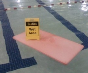 Spill in the Pool Area