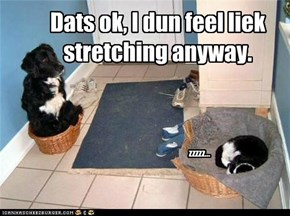 I don't feel like stretching
