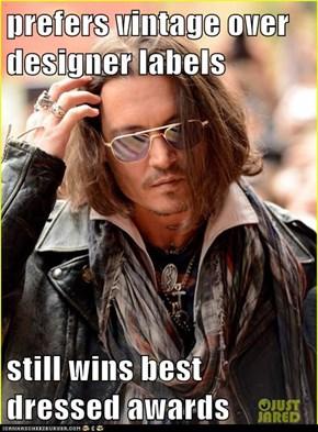 prefers vintage over designer labels  still wins best dressed awards