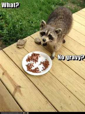 What? No gravy?