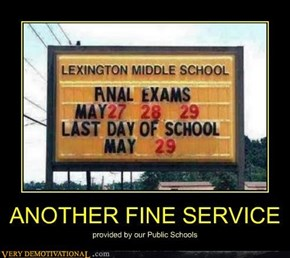 Hooray Public Schools!