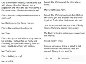 Clueless Non-brony is Clueless