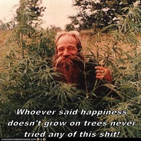 Whoever said happiness doesn't grow on trees never tried any of this sh*t!