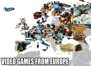 A Map of Video Games from Europe