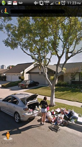 Google Street View Captures the Moment When a Guy Kicks His Ex-Girlfriend Out of His House