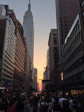 Manhattan-henge Only Comes Twice a Year!