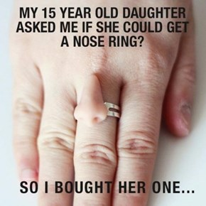 Thank God She Didn't Ask for Another Kind of Ring