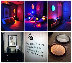 Look at This Portal Themed Bedroom