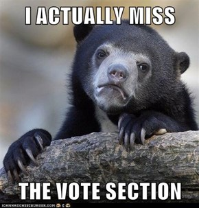I ACTUALLY MISS  THE VOTE SECTION