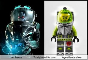 mr freeze Totally Looks Like lego atlantis diver