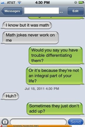 Math Jokes Are the First Sine of Insanity