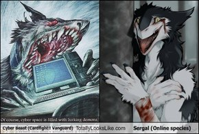 Cyber Beast (Cardfight!! Vanguard) Totally Looks Like Sergal (Online species)