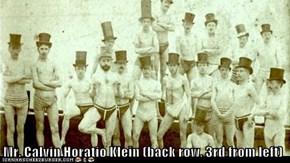 Mr. Calvin Horatio Klein (back row, 3rd from left)