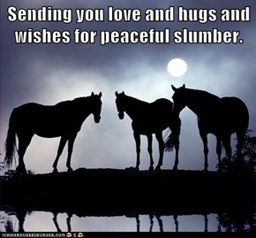 Sending you love and hugs and wishes for peaceful slumber.