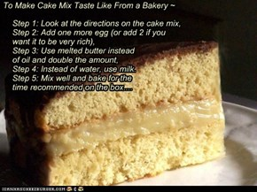 To Make Cake Mix Taste Like From a Bakery ~