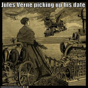 Jules Verne picking up his date