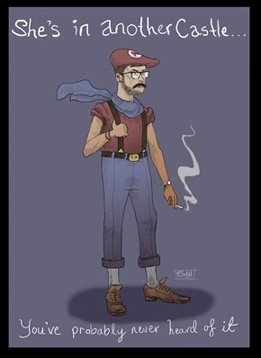 Mario Characters as Hipsters