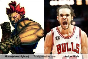 Akuma(street fighter) Totally Looks Like Joakim Noah