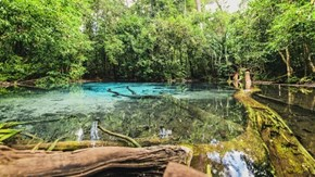 The Blue Pool in Krabi, Thailand
