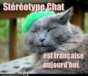 Stereotype Cat is French today.
