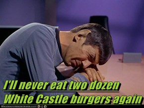 I'll never eat two dozen White Castle burgers again