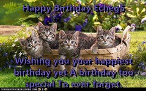 Happy Birthday Echeg5  Wishing you your happiest birthday yet A birthday too special To ever forget.