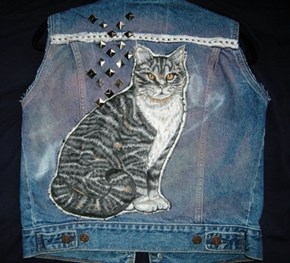 "Nothing Says ""Badass"" Like Studs And A Tabby"