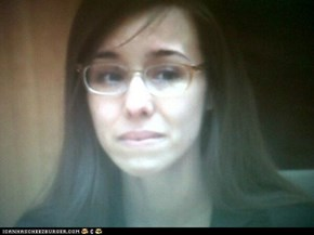 The look on Jodi Arias' face as the verdict was read. GUILTY of First Degree Premeditated Murder.