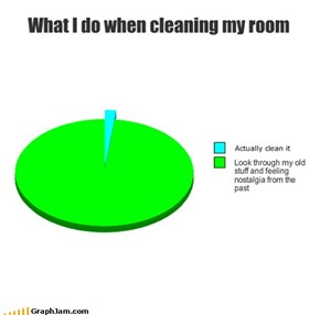 What I do when cleaning my room