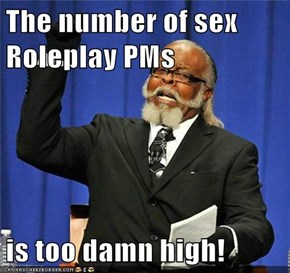 The number of sex Roleplay PMs  is too damn high!