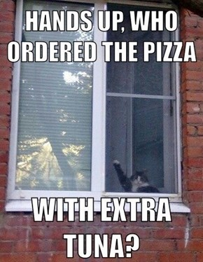 Who ordered pizza with extra tuna?