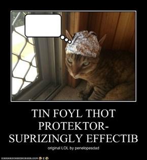 TIN FOYL THOT PROTEKTOR- SUPRIZINGLY EFFECTIB