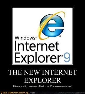 Three cheers for IE!