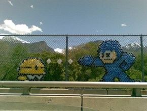 Mega Man Chain-link Art