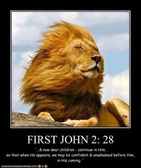 FIRST JOHN 2: 28