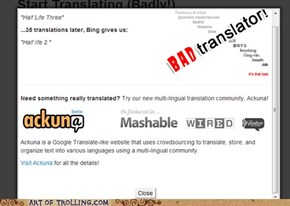 Why Must You Crush My Dreams Like This, Bad Translator?