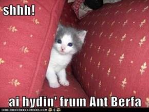shhh!  ai hydin' frum Ant Berfa