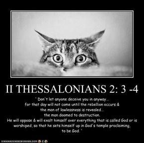 II THESSALONIANS 2: 3 -4