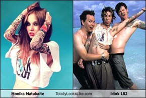 Monika Matukaite Totally Looks Like blink 182