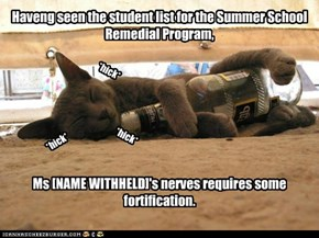 Haveng seen the student list for the Summer School Remedial Program,