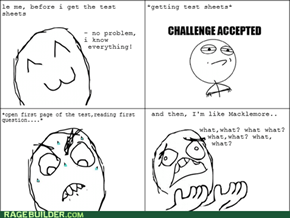 Meanwhile in a test