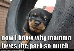 now i know why mamma loves the park so much