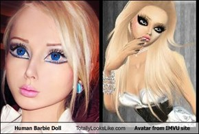 Human Barbie Doll Totally Looks Like Avatar from IMVU site