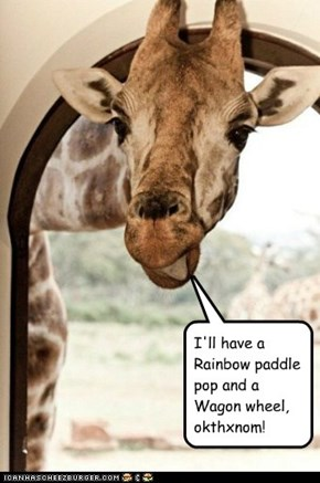I'll have a Rainbow paddle pop and a Wagon wheel, okthxnom!