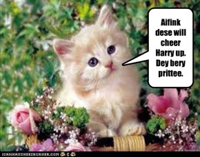 Tiny Tina collects for a bouquet for Harry