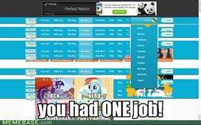 ONE job!!!!