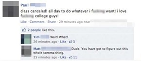 Commas Can Save You Some Awkwardness